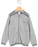 Armani Junior Boys' Logo Knit Sweater