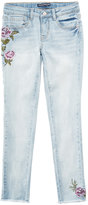 Vanilla Star Floral-Embroidered Skinny-Fit Jeans, Big Girls (7-16)