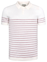 George Knitted Striped Polo Shirt Jumper