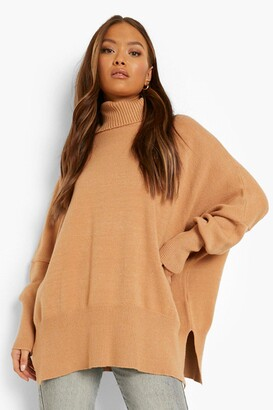 boohoo Oversized roll/polo neck Knitted Jumper