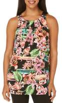 Rafaella Floral Sleeveless Tank Top