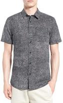 Volcom New Noise Trim Fit Short Sleeve Print Woven Shirt