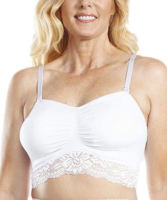 Ahh By Rhonda Shear Women's Bras White - White Lace Seamless Bra - Plus Too