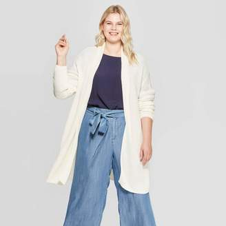 Ava & Viv Women's Plus Size Long Sleeve Textured Cardigan