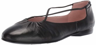 Taryn Rose Women's Alessandra Ballet Flat Black 5.5 M Medium US