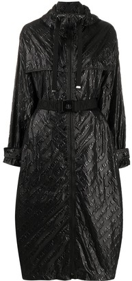 Moncler Bouteille embossed logo trench