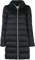 Herno zip up collar puffer coat