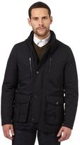 Jeff Banks Navy Double Collar Jacket