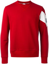 Moncler Gamme Bleu chevron sleeve sweatshirt - men - Cotton - S