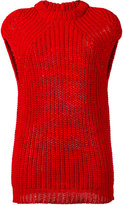 Rick Owens funnel neck knitted top - women - Cotton - XS