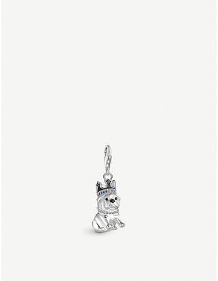 Thomas Sabo Chinese New Year sterling silver dog with crown charm