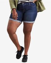 Levi's Plus Size Cotton Roll-Cuff Denim Shorts
