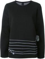 Mother of Pearl striped sweatshirt
