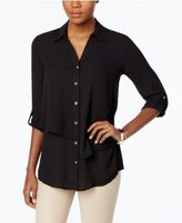 JM Collection Tiered Roll-Tab Blouse, Only at Macy's