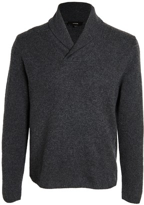 Vince Long Sleeve Shawl Collar Cashmere Sweater