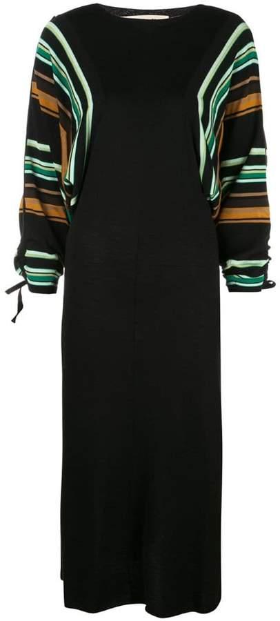 Marni striped sleeve dress