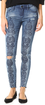 Blank Embroidered Jeans