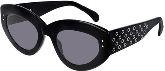 Alaia Cat-Eye Studded Acetate Sunglasses