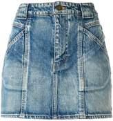 Saint Laurent seamed denim skirt