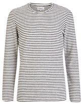 Burton Mens Nowadays White Reverse Striped Sweatshirt*