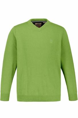 JP 1880 Men's Big & Tall V-Neck Sweater Burgundy Large 723418 50-L