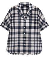 Theory Checked Cotton Shirt