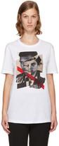 Neil Barrett White 'Freedom Fighters' Hybrid T-Shirt