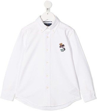 Ralph Lauren Kids Teddy Bear button-down shirt