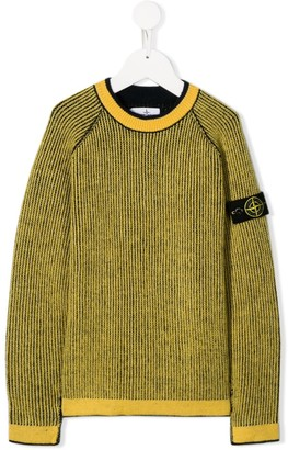 Stone Island Junior Logo Patch Knitted Jumper