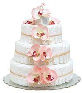 Bloomers Baby Large Pink Orchids Diaper Cakes by by Baby
