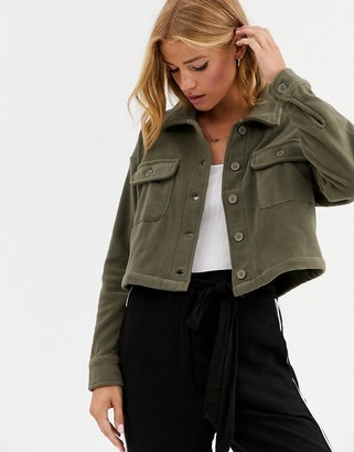 Cotton On Cotton:On Polly cropped soft utility shirt-Green