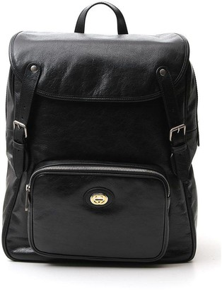 Gucci Logo Plaque Backpack