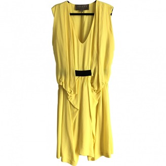 Space Style Concept Yellow Synthetic Dresses