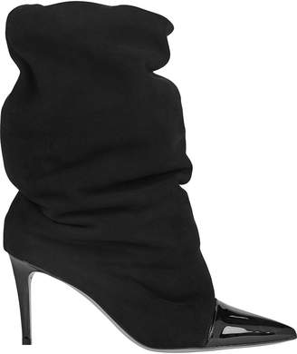 Alexandre Vauthier Laura Slouchy Leather Ankle Boots