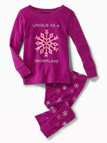 Old Navy 2-Piece Snowflake-Graphic Sleep Set for Toddler & Baby