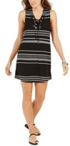 Dotti Dahlia Striped Lace-Up Tunic Cover-Up Women's Swimsuit