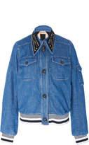 N°21 N 21 Goldie Embellished Collar Denim Jacket