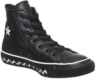 Converse All Star Hi Trainers Black White Zig Zag Sole Vltg