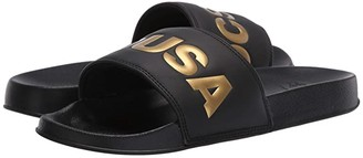 DC Slide SE (Black/Gold) Women's Shoes