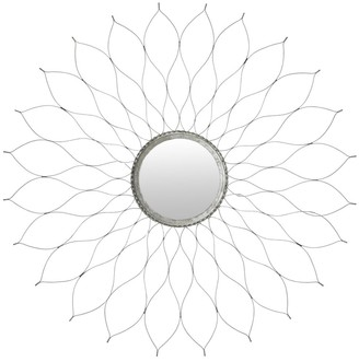 """Safavieh Handmade Art Silver Flower 35-inch Decorative Mirror - 35"""" x 35"""" x 1"""""""