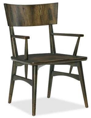 Hooker Furniture Crafted Dining Chair in Dark Wood (Set of 2