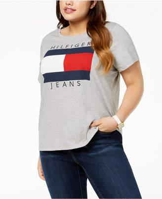 Tommy Hilfiger Plus Size Cotton Logo T-Shirt