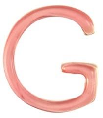 Loquet London Enamel letter charm G