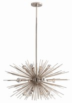 The Well Appointed House Arteriors Zanadoo Polished Nickel Chandelier-2 Sizes Available