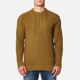 Barbour Men's Craster Crew Knitted Jumpers Antique Gold