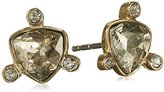 Dyrberg/Kern Women's Stud Earrings Gold Plated Stainless Steel Crystal Transparent/336678