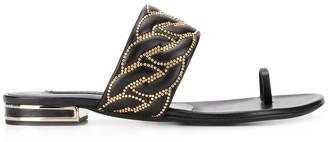Casadei Catenasse embellished flat sandals