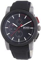 HUGO BOSS Chronograph Black Dial Black Nylon Strap Mens Watch 1512979