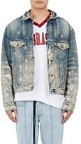 Off-White Men's Paint-Splatter Denim Jacket