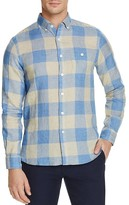 Todd Snyder Linen Exploded Check Regular Fit Button-Down Shirt